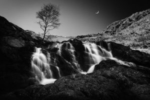 Evening Waterfall by RobertoBertero