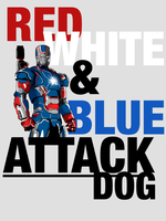 Red, White and Blue Attack Dog by Mr-Saxon