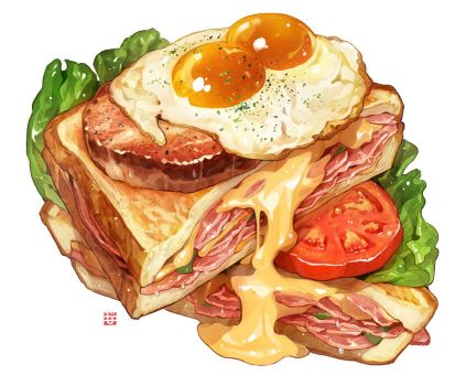 Grilled Cheese Sandwich by mamomiji
