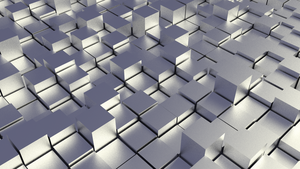 Chrome Cubefield Abstract Wallpaper by D-Money-16