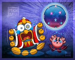 Kirby Dedede and Nightmare by MiraKHall