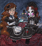 .: Gothic Tea Party :. by PurpleRAGE9205