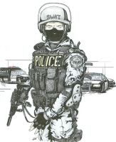 SWAT Police Officer - Original by angelfire7508