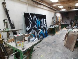 SmecK Graffiti Wall 2 #In Progress by SmecKiN