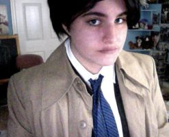 Castiel Cosplay (with uncut wig) by decaygirl13