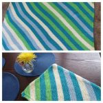 Blue Stripes by anerdycrocheter