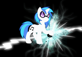 Vinyl Scratch background by camike1234