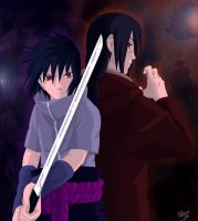 Uchiha Brothers Forever by TobeyD