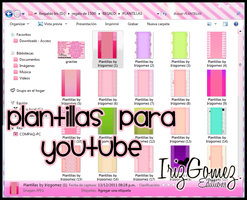 Plantillas para Youtube/Templates to the youtube by IrizGomez
