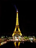 The Eiffel Tower at Night by Little-Princess-Kate