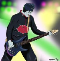 Kisame guitar bass by tobito84