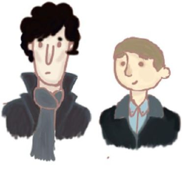Holmes and Watson by little-wallflower