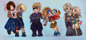 Chibi Final Fantasy by majdarts