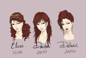 Eleni's Incarnations by EvilVampireDucky