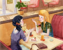 Sweets Cafe by thoughtshower