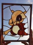 Stained Glass Pokemon Cubone by mth1804