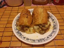 Mega cheese meatball hero with mushrooms by adamnorde583
