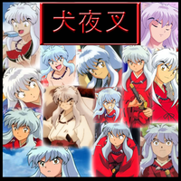 Inuyasha - Hanyou Collage by Strawberry-of-Love