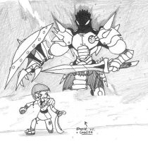 David vs. Goliath by Kainsword-Kaijin