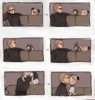 Wesker, Alvis, and a Mistletoe by mausmouse