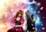 Colab/Commission~Anny and Undertaker by MoonOfYomi