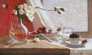Still life with strawberries by Luzblanca