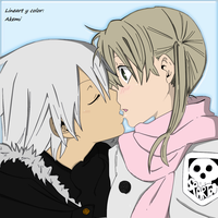 Maka and Soul kiss by AkemiAkira02