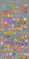 Pokeminis stickers - Gen 1 by Kiibie