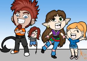 A group of silly people by Smashley-XD