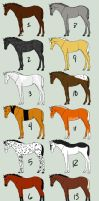 Horse/Foal Adopts -Open- by SilverDragon2050