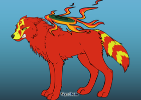 Gahing alpha of the fire wolf by Pythorisawesome