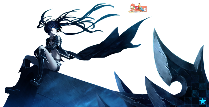 BRS (Black Rock Shooter) - Render by azizkeybackspace