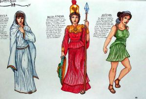 Virgin Goddesses of Olympus sketch