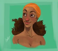 Island Girl Color Exercise by Qballthe5th