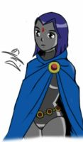 Raven sketch by DarthDaniloXS