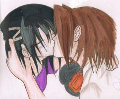Yoh and Hisayo- First Kiss by Miss-Mori02