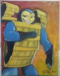 Chex Quest: Chex Warrior Painting by SJRT