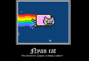 Nyan cat Motivational Poster by SoulEaterRagnorok