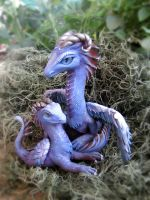 Custom Dragon Sculpture Commission: Frost by Lighteh