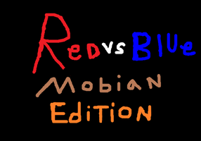 Red vs Blue Mobian Edition Poster by cartoonfan22