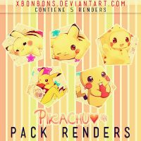Pack Renders Pikachu by xBonbons