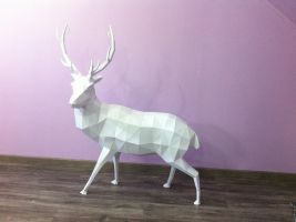 Paper Stag by davidtruong