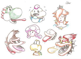 Mario Characters - Part 2 by EdwinArt