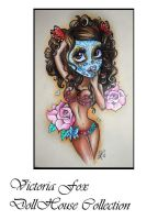 Day of the Dead Pinup by ToriaFox