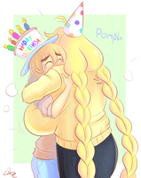 Birthday *pomph* by theycallhimcake