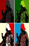 Darth Vader four panel comic print pop art by TheGreatDevin