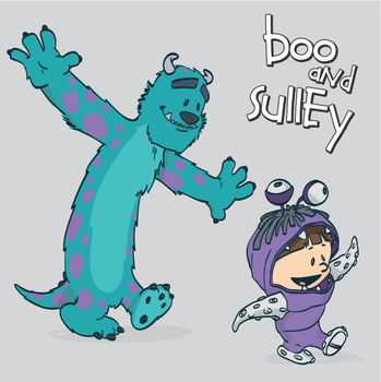 Boo Sullivan Calvin Hobbes by marinpoppins