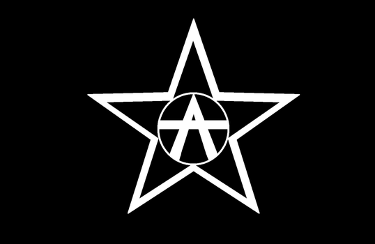 Anarchism without adjectives flag. by RoboticAnarchist