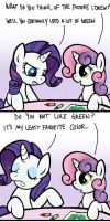 Green is Not Her Color by WolverFox