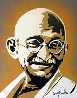 Gandhi by TomoArt1